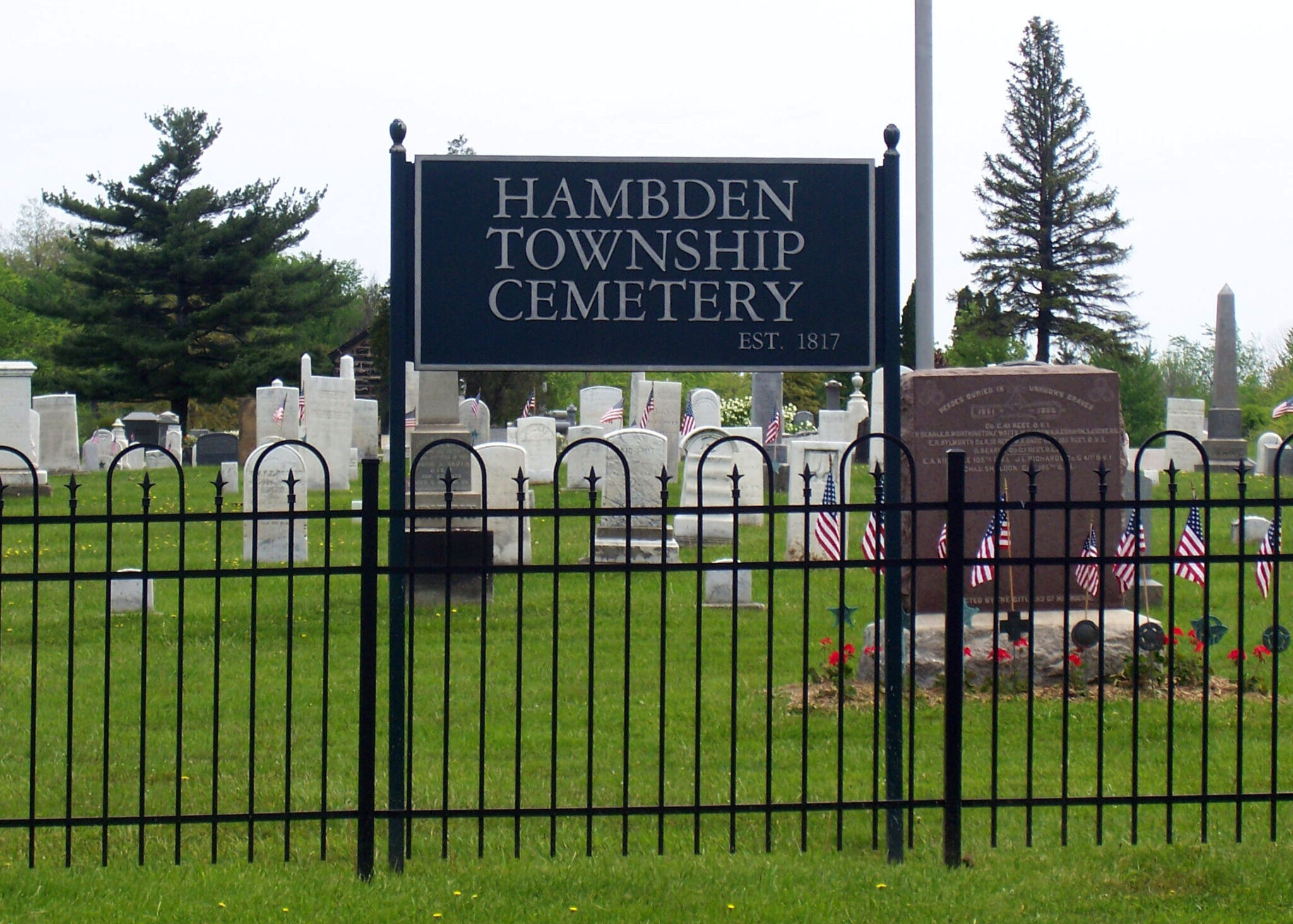 Hambden Township Cemetery Signage