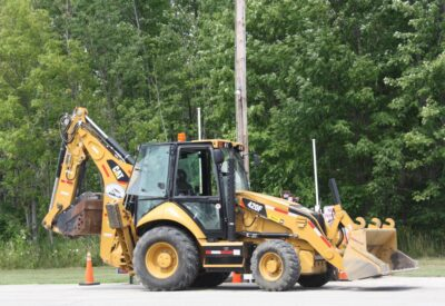 Backhoe on the Road