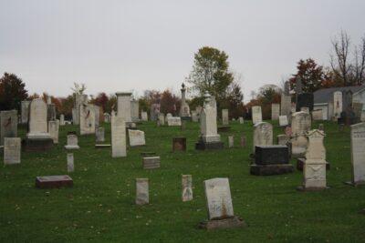 Gravestones in the Cemetery