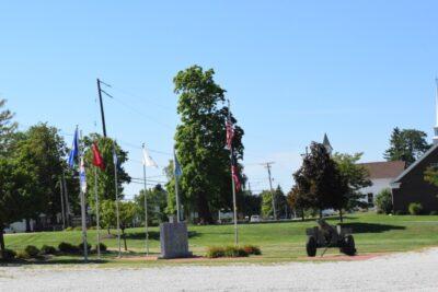 Veteran's Memorial and Flags